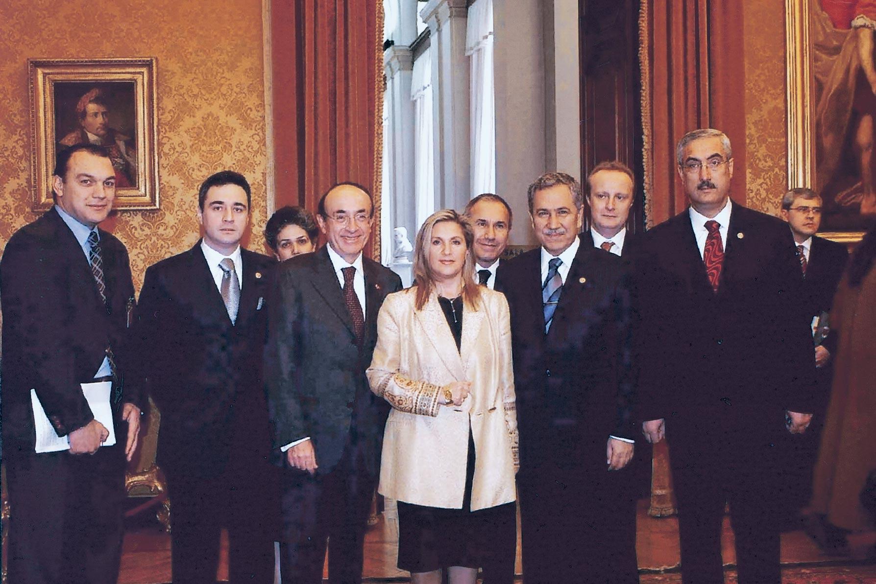 Roma, Camera dei Deputati, 26 gennaio 2005 - Presidente Parlamento turco Bulent Arinc e Ambasciatore Carlo Marsili