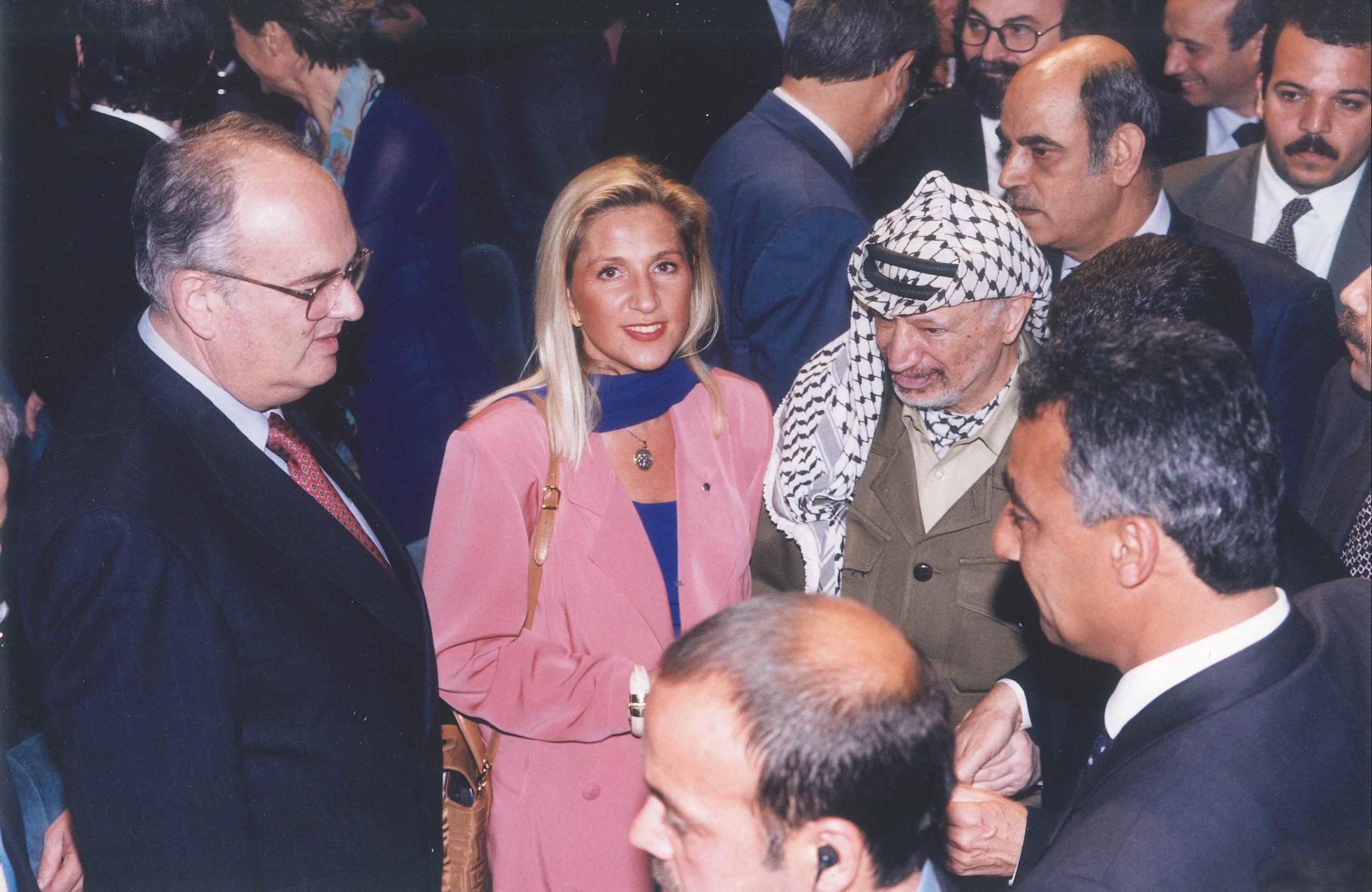 Firenze, 13 giugno 1998 - Ambasciatore Israeliano e Yasser Arafat