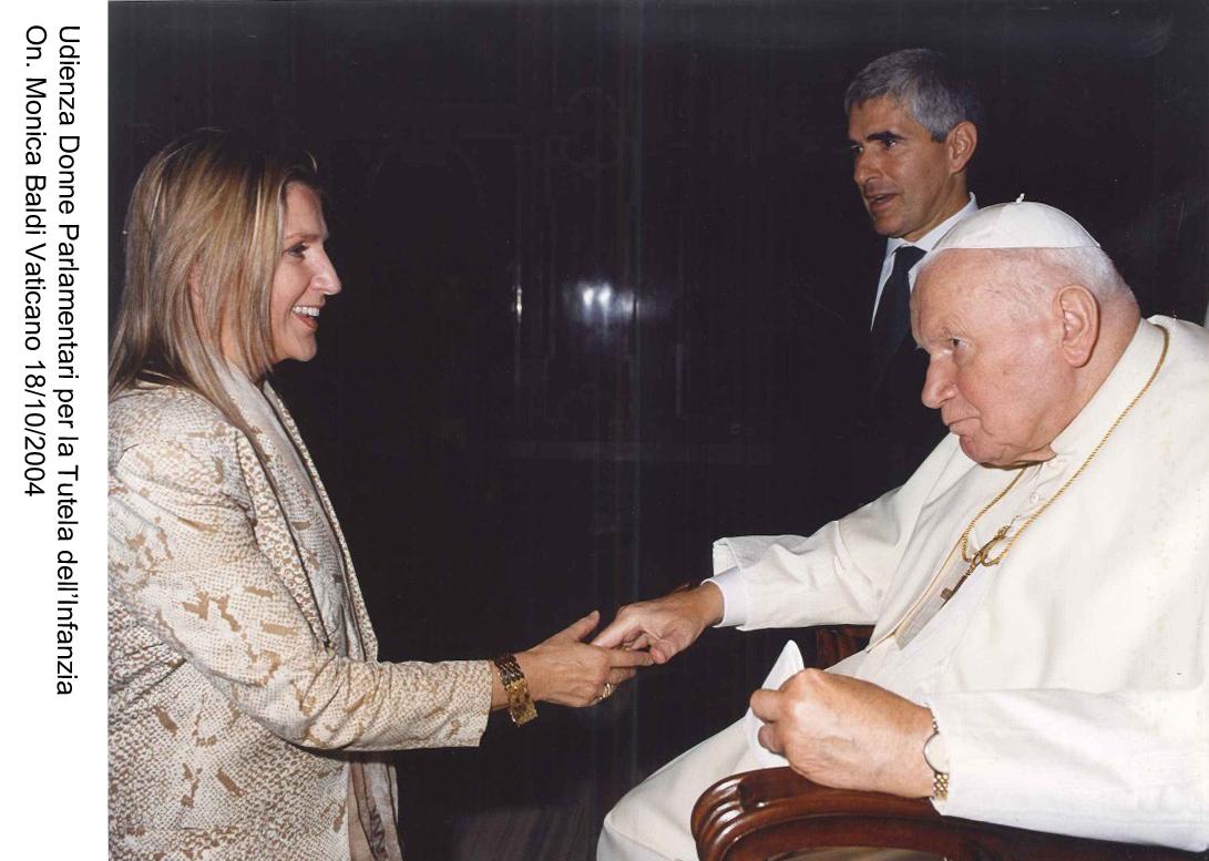 Vaticano, 18 ottobre 2004 - Udienza con papa San Giovanni Paolo II