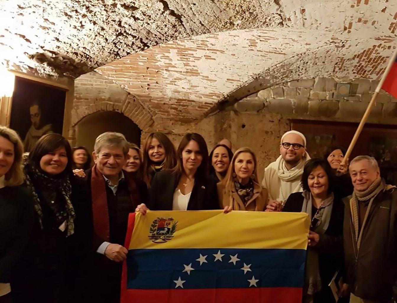 Firenze, San Miniato al Monte, 3 febbraio 2018 – Emergenza Venezuela.