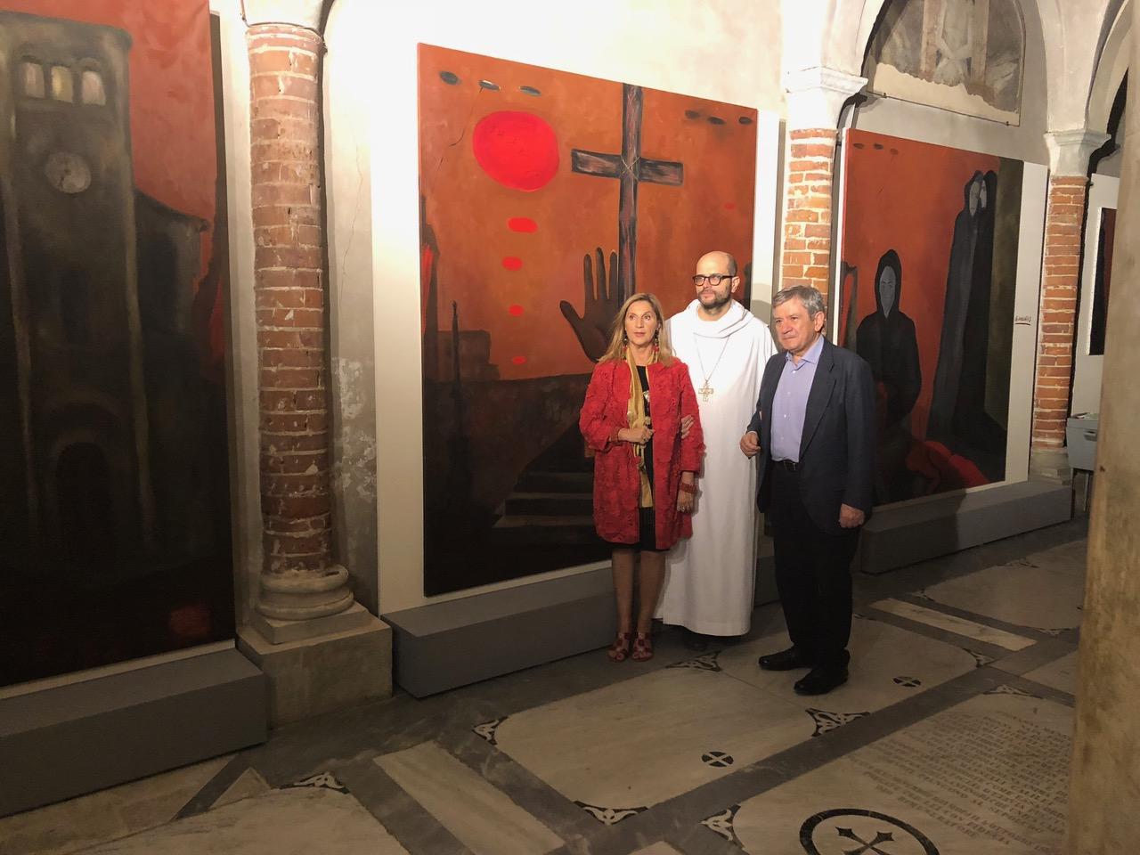 Firenze, 19 Ottobre 2018 - Dom Bernardo, Enrique Baron all'inaugurazione a Gernika