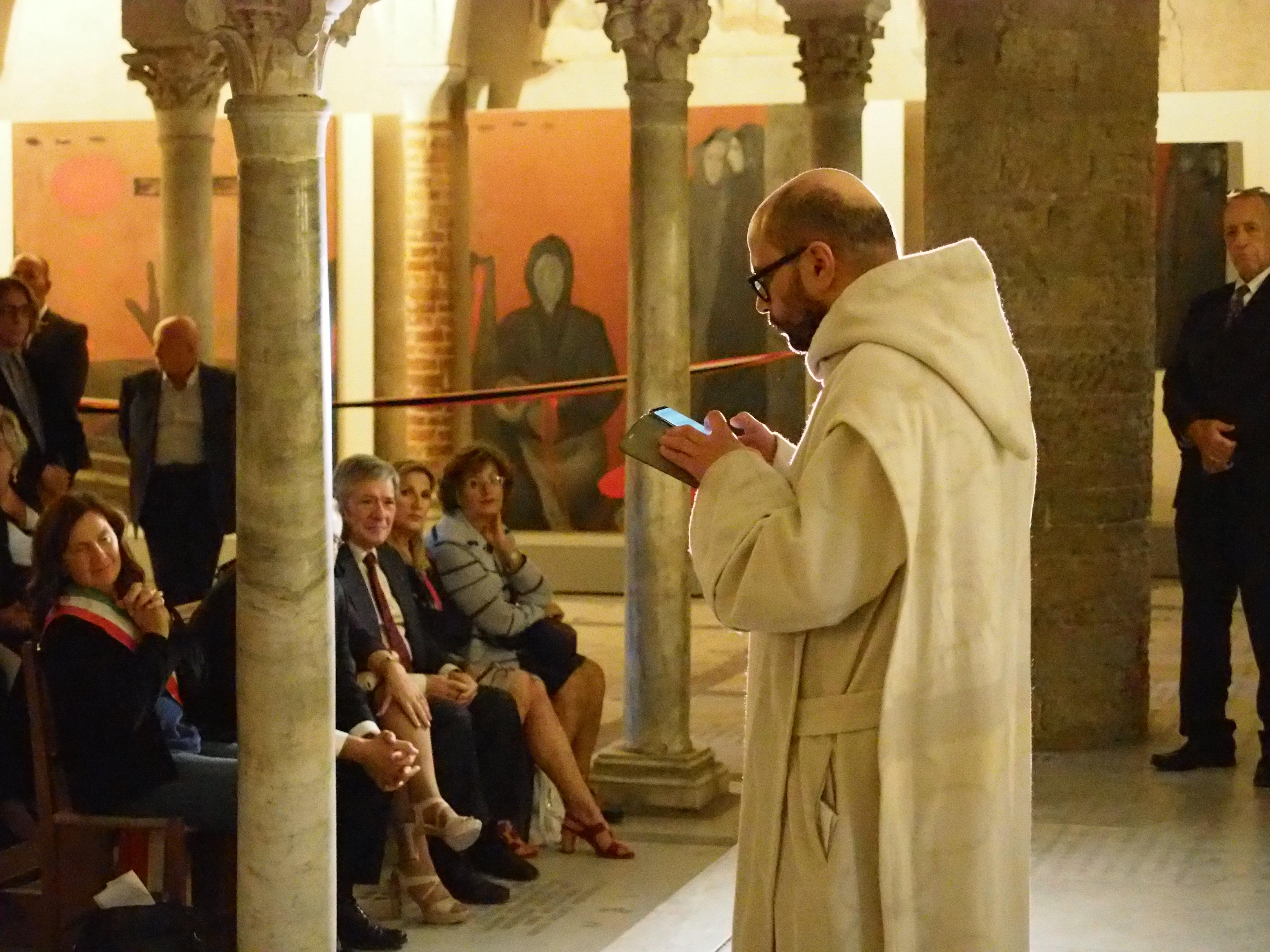 Firenze, 20 Ottobre 2018 - Dom Bernardo all'inaugurazione a Gernika