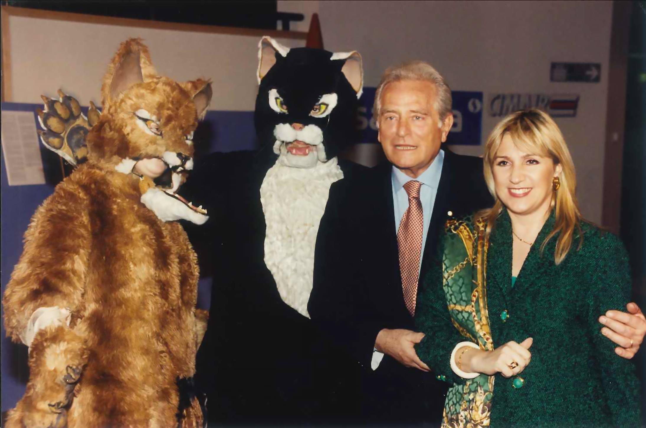 Bruxelles, Parlamento Europeo, 28 novembre 1995 – Progetto Pinocchio e Giancarlo Boniperti