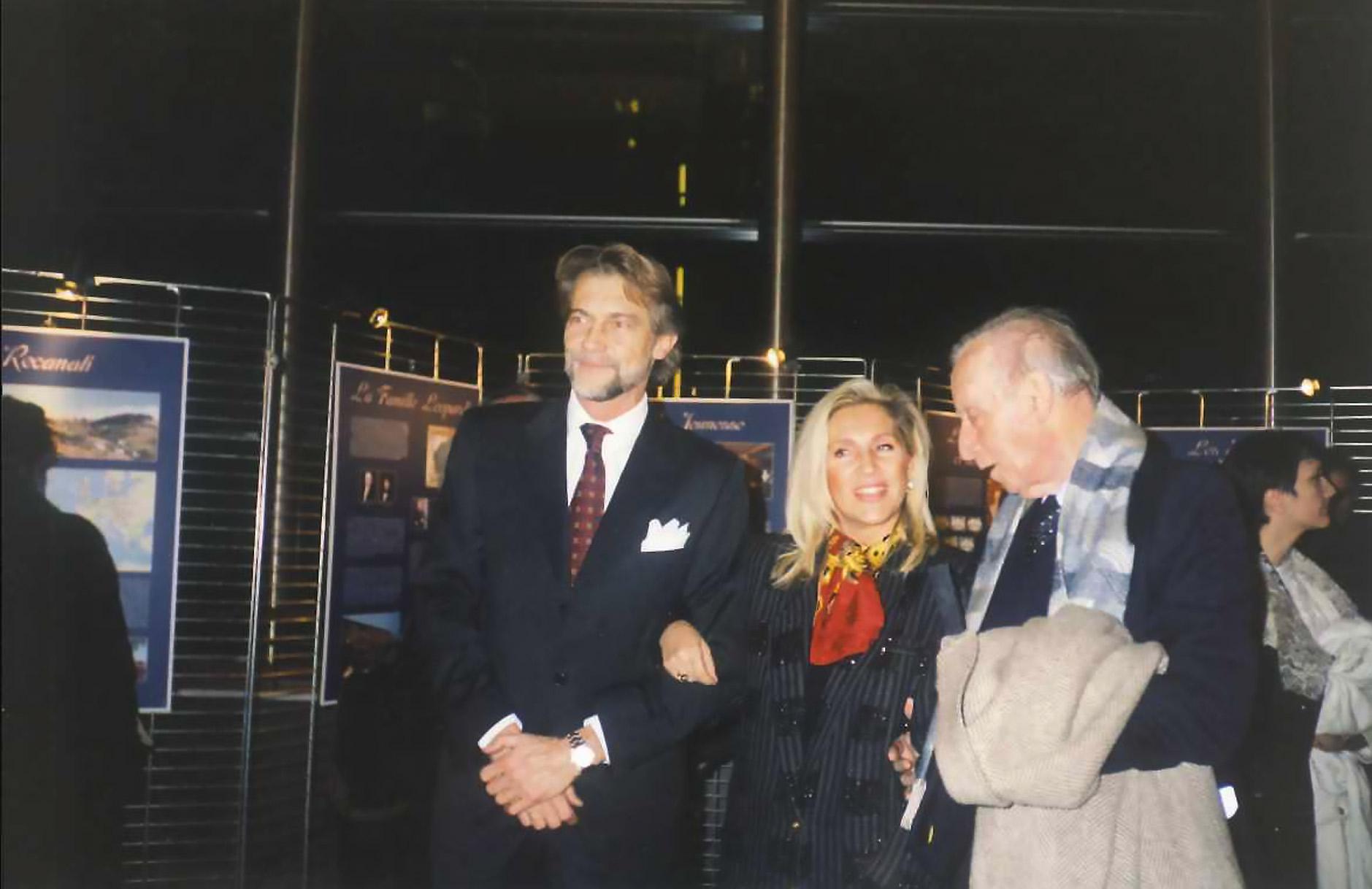 Bruxelles, Parlamento Europeo, 2 dicembre 1998: Mario Luzi e Vanni Leopardi