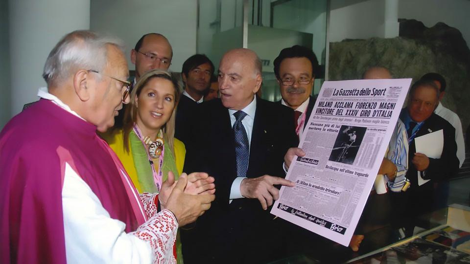 Ghisallo (CO), 4 ottobre 2006 – inaugurazione Museo del Ghisallo con Fiorenzo Magni