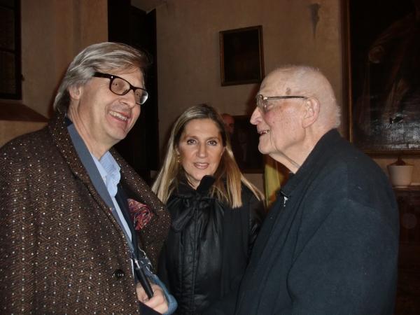 Firenze, 12 Dicembre .2012 con Vittorio Sgarbi e Monsignor Angiolo Livi