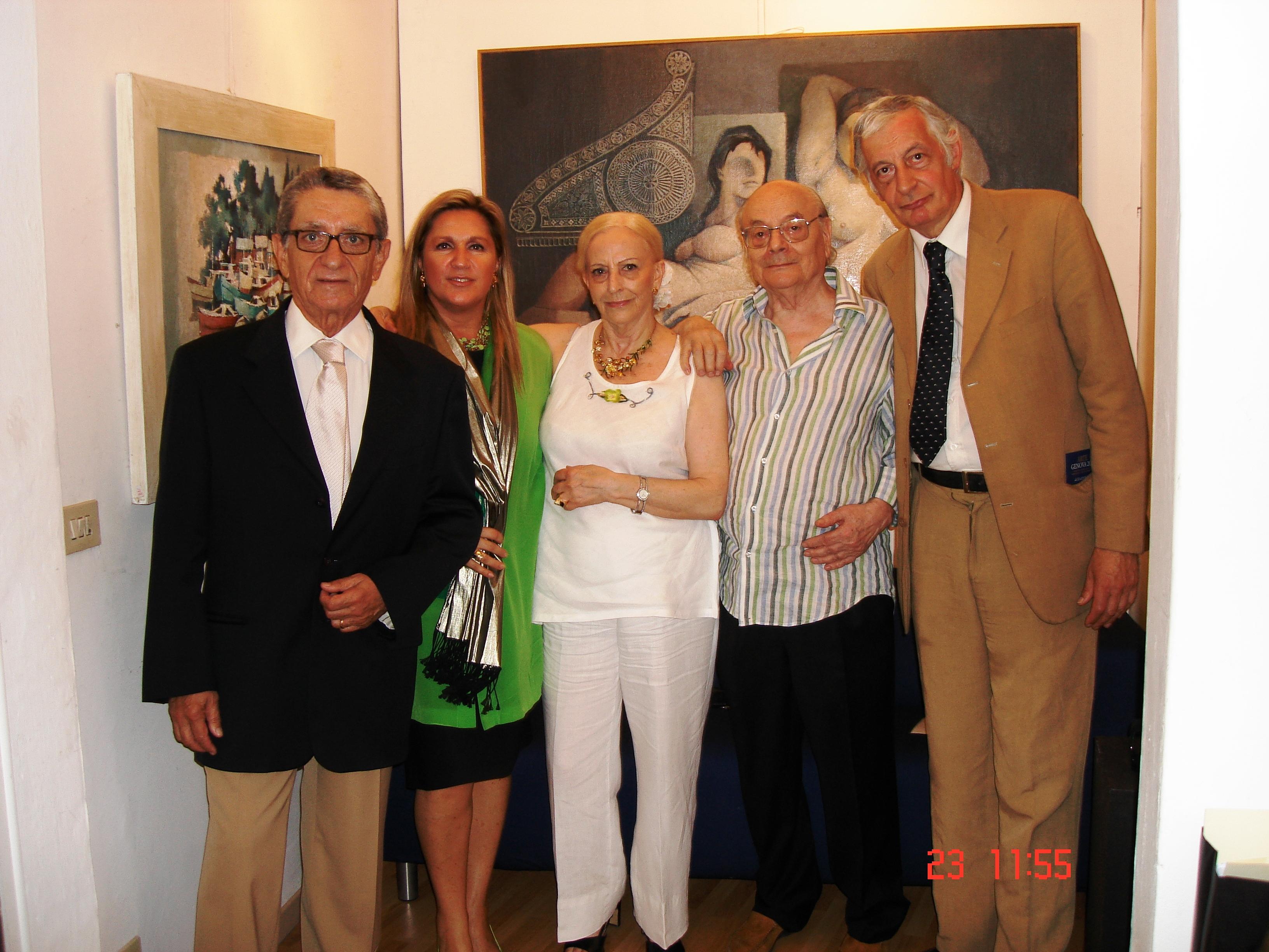 Firenze, 23 Giugno 2008 istituzione della Fondazione Frosecchi con Andrea Bartali, Nanà e Paolo Frosecchi e Cosimo Ceccuti