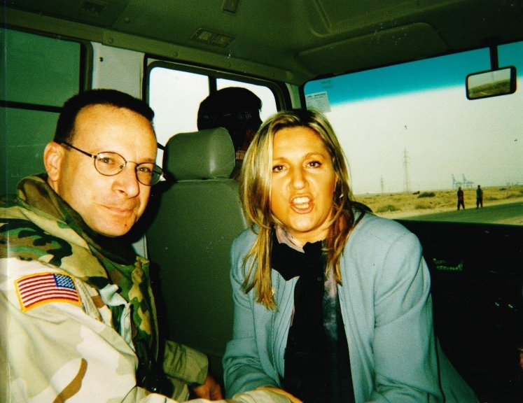 Iraq, 26 aprile 2003 - missione a Bassora con luogotenente americano