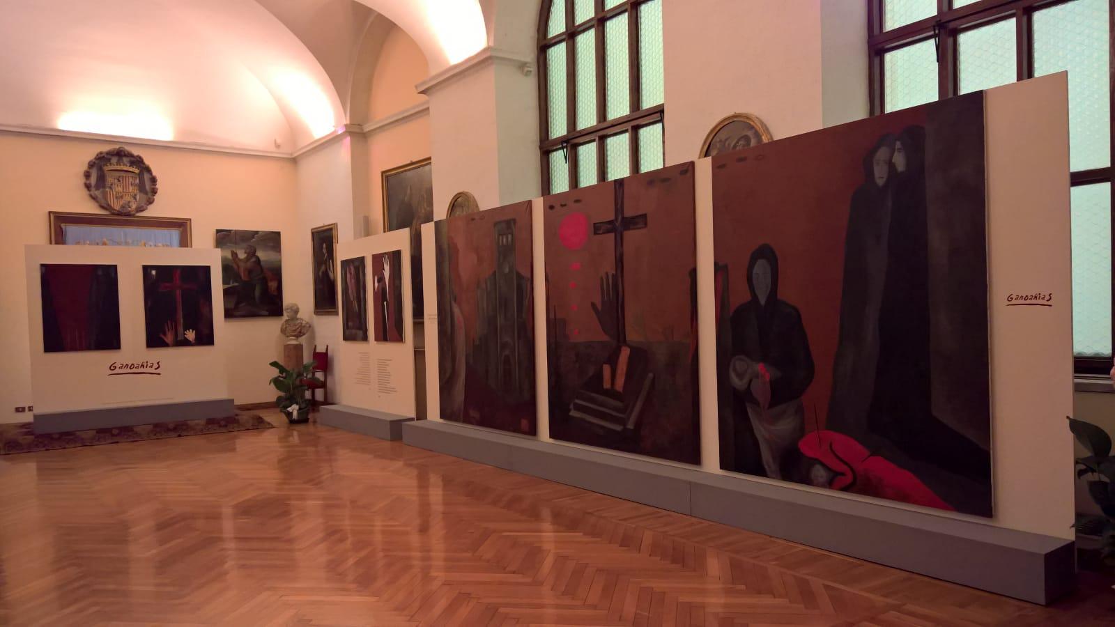 Allestimento di Gernika a Roma al Collegio Spagnolo di Santa Maria di Monserrat