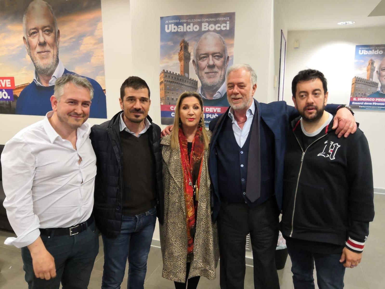A Firenze al comitato elettorale con il candidato a Sindaco del centrodestra Ubaldo Bocci, Jacopo Bianchi, Marco Stella e Francesco Torselli