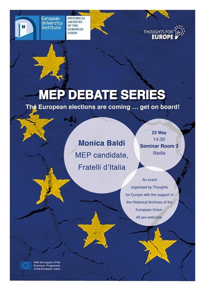 Ospite del sesto dibattito con i candidati al Parlamento Europeo al polo universitario di Novoli (Firenze).