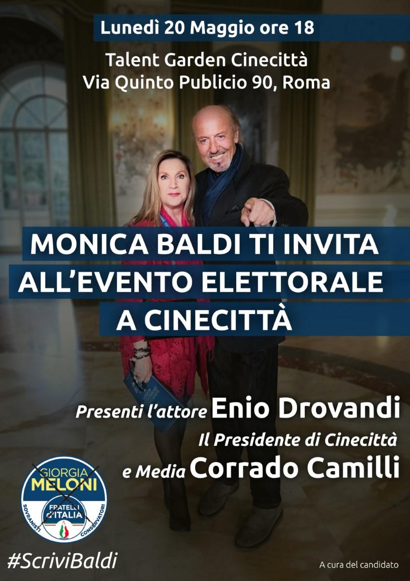 Evento al Talent Garden di Cinecittà con l'attore Enio Drovandi durante la campagna elettorale per le Europee 2019