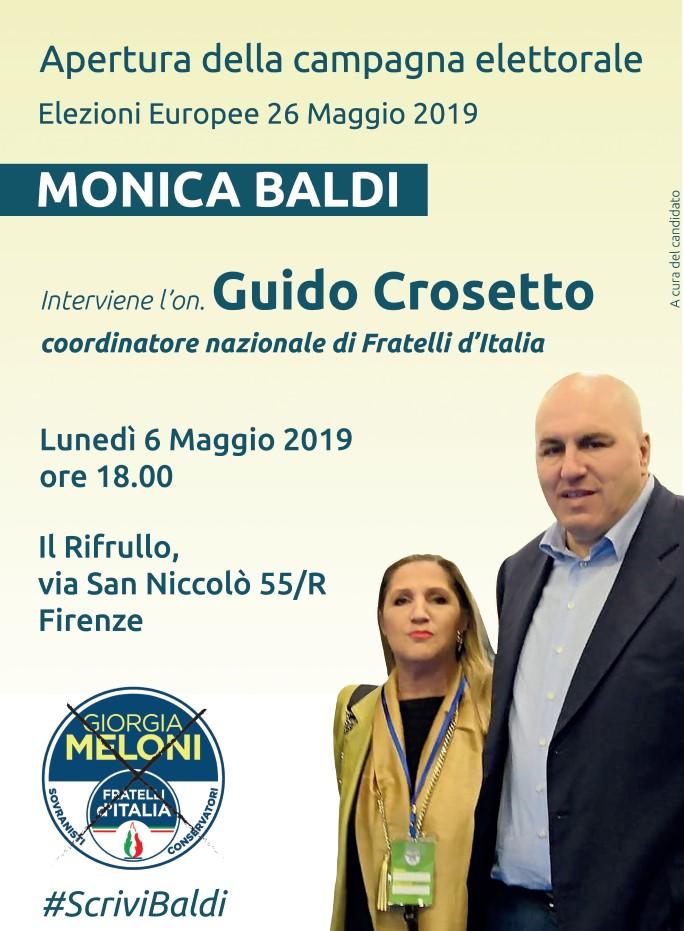 Apertura della Campagna elettorale delle Europee 2019 con il coordinatore nazionale di Fratelli d'Italia Guido Crosetto