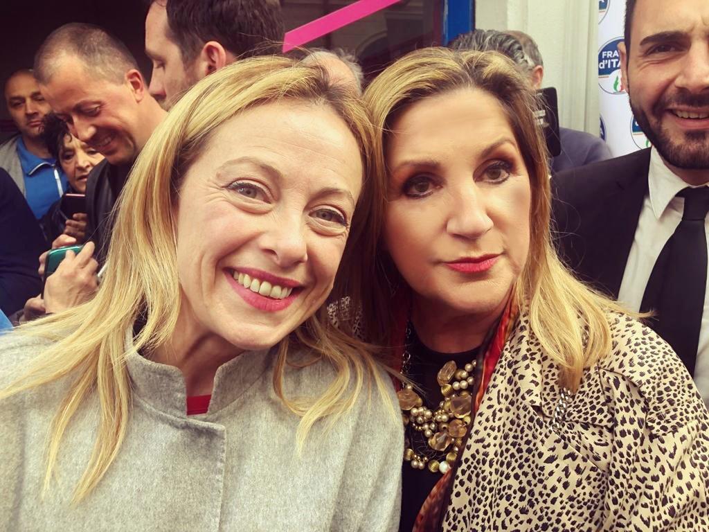 9 Maggio 2019: a Prato con Giorgia Meloni durante la campagna elettorale per le Europee