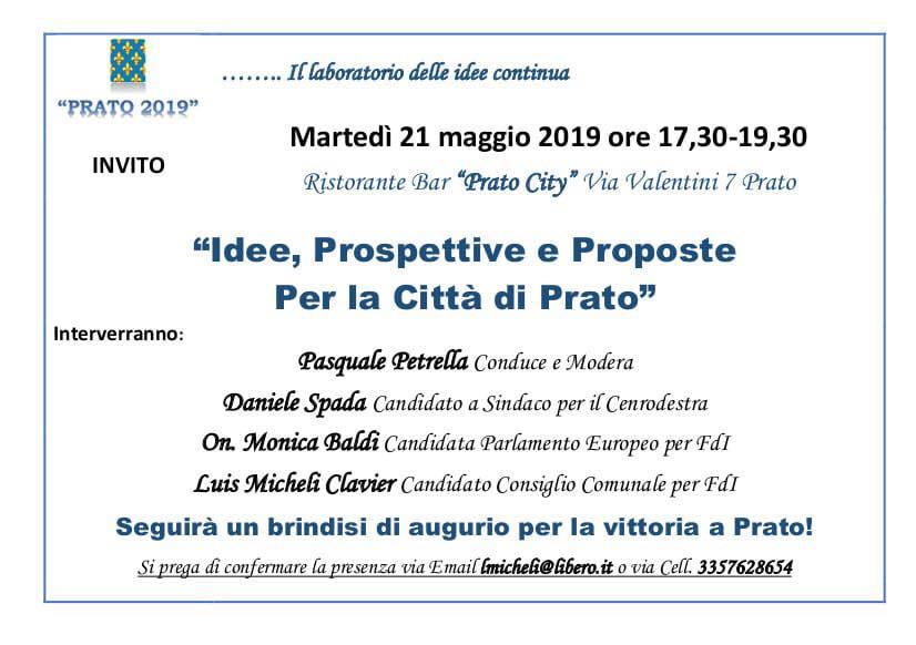 """Evento elettorale al ristorante Bar """"Prato City"""""""
