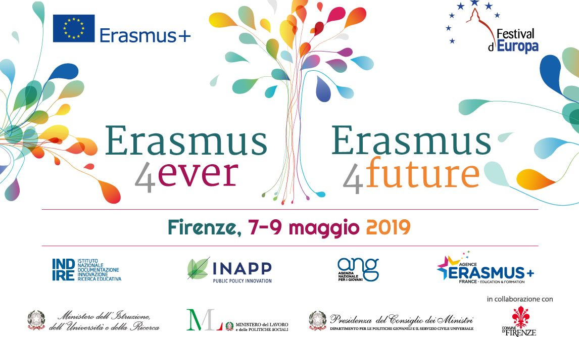 Erasmus4ever, evento a Firenze 7-9 Maggio 2019