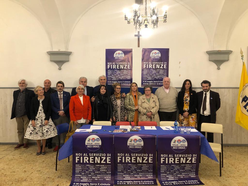 Al comitato Elettorale Fratelli d'italia a Firenze