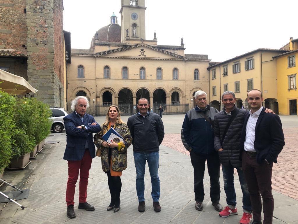 Apericena di presentazione dei candidati a San Giovanni Valdarno (Arezzo)