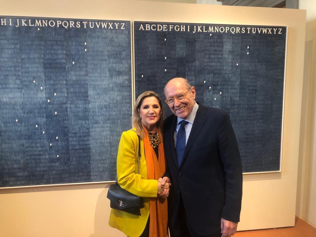 Con Roberto Casamonti, fondatore della Galleria Tornabuoni di Firenze