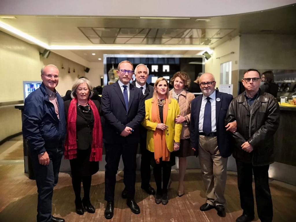 All'aperitivo elettorale al ristorante Prato City con Daniele Spada, Luis Micheli e Alessandro Vinattieri