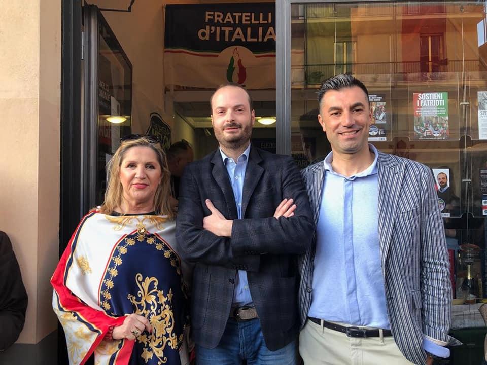 All'inaugurazione del Comitato Elettorale di Fratelli d'Italia in via Maragliano a Firenze
