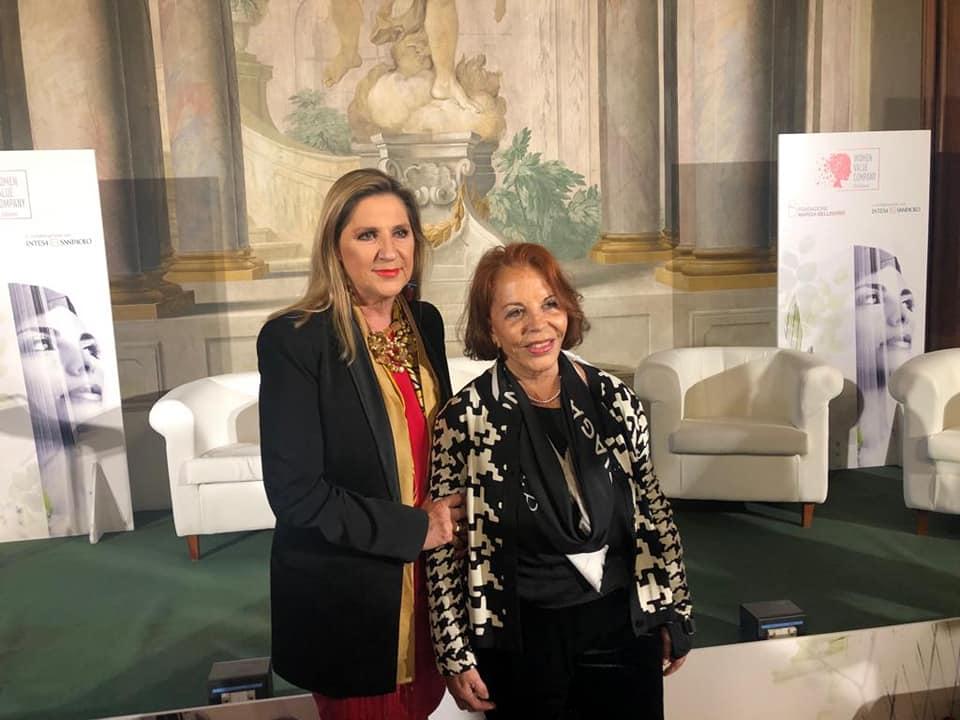 """A Firenze alla consegna del premio """"Women Value Company"""" promosso dalla Fondazione Bellisario con la presidentessa Lella Golfo"""